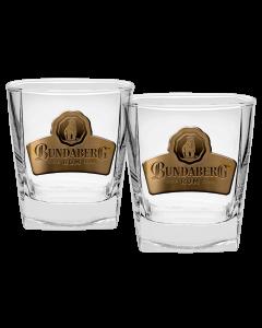 Bundaberg Rum Badged Spirit Glasses Set of 2