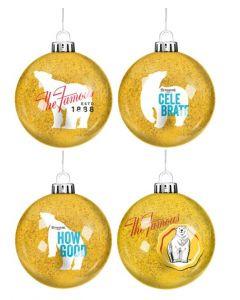 Bundaberg Rum Glitter Baubles 4 Pack